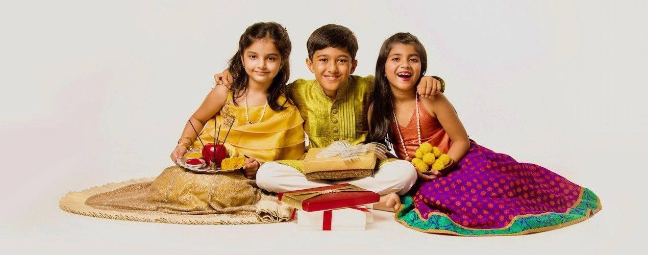 Sari indien Robe indienne Kurta enfant - Missindya